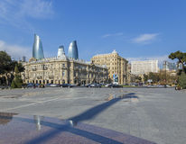 Azneft Square in Baku royalty free stock photography