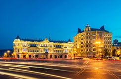 Azneft Square on May 30 in Baku, Azerbaijan Royalty Free Stock Photography