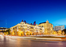 Azneft Square on May 30 in Baku, Azerbaijan Royalty Free Stock Photo