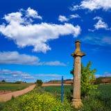 Azofra Saint James Way cross column La Rioja Stock Photography
