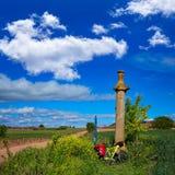 Azofra Saint James Way cross column La Rioja Royalty Free Stock Photo