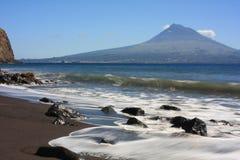 azorean海滩 免版税图库摄影