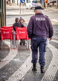 Azorean policemen Royalty Free Stock Photo