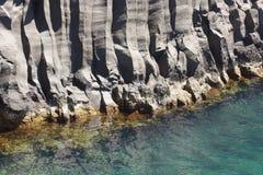Azoren-Basaltküstenlinie im Sao Jorge Faja tun Ouvidor portugal lizenzfreies stockbild