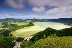 Azoren-Landschaft in Lagoa DAS Furnas Lizenzfreies Stockfoto
