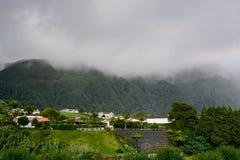 Azoren-Landschaft - Ribeira Quente Stockfotografie