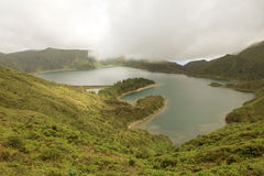 Azoren-Landschaft von Sao-Miguel Island See lizenzfreie stockfotos