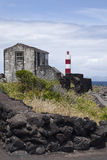 Azoren, phare sur l'île Pico Photos stock