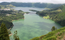 Azoren sieben Stadt-Lagunen - vulkanische Landschaft Sao-Miguel-Insel Lizenzfreies Stockbild
