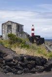 Azoren, vuurtoren op het eiland Pico Stock Foto's