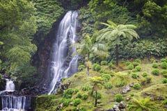 Azoren: Wasserfall Lizenzfreies Stockfoto
