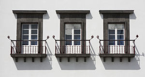 Azores. Typical windows with balcony of Azores, Portugal Stock Images