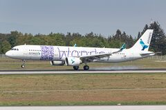 Azores Airlines Airbus A321 Neo airplane at Frankfurt