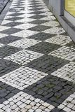 Azores brukowa tekstury, bruków wzory, Street Art obrazy royalty free
