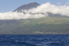 Azores coastline landscape with atlantic ocean in Pico island. P Royalty Free Stock Images