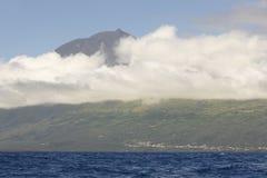 Azores coastline landscape with atlantic ocean in Pico island.   Royalty Free Stock Photography