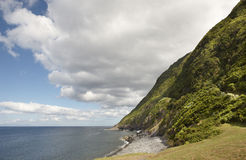 Azores coastline landscape in Sao Jorge island with atlantic oce Royalty Free Stock Image