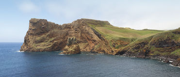 Azores coastline in Sao Jorge island. Baia Entre Morros. Portuga Royalty Free Stock Photos