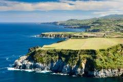 Azores - coastline. Southern coast of Sao Miguel island, near Ribeira Grande, Azores , Portugal Stock Photos
