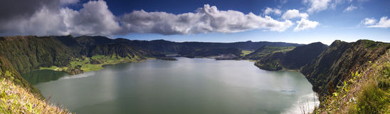 Azores: Crater lake panorama Stock Photos