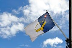 Azores flaggaflöde royaltyfria bilder