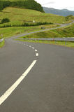 Azores Island landscape with curvy and windy roads Royalty Free Stock Photography