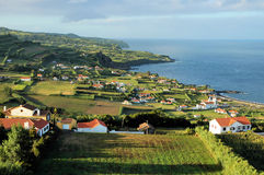 Azores islands. View over the coastline at Azores islands Royalty Free Stock Photography