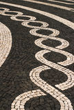 Azores Islands, mosaic stone pavement Stock Photos