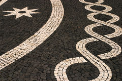 Azores Islands, mosaic stone pavement Stock Image
