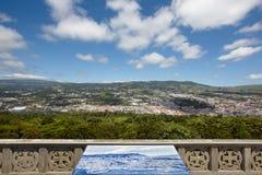 Azores krajobraz Angra robi Heroismo od Monte Brasil Terceira zdjęcie royalty free