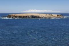 Azores kustlinjelandskap Topo-ö och Atlantic Ocean Sao Arkivfoton
