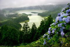 Azores lakes Stock Photos