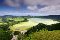 Azores landscape in Lagoa das Furnas Royalty Free Stock Photo