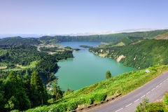 Azores landscape in Lagoa das Sete Cidades Royalty Free Stock Image