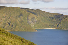 Azores landscape with lake. Lagoa do Fogo, Sao Miguel. Portugal Stock Image