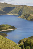 Azores landscape with lake. Lagoa do Fogo, Sao Miguel. Portugal Royalty Free Stock Photography