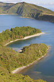 Azores landscape with lake. Lagoa do Fogo, Sao Miguel. Portugal Stock Photo