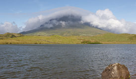 Azores landscape in Pico island. Lagoa do Capitao. Portugal Royalty Free Stock Images