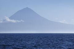Azores landscape with Pico mountain and atlantic ocean. Portugal Royalty Free Stock Photos
