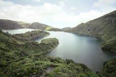 Azores. Landscape Azores Sete Lagoas lake royalty free stock images