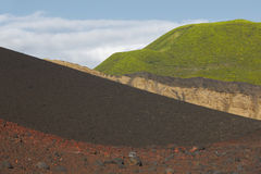 Azores multicolored volcanic landscape in Faial island. Ponta do Royalty Free Stock Photos