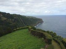 Azores oceanside Arkivfoto