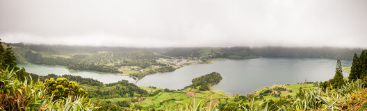 Azores - panorama royalty free stock photography