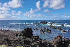 Azores Portugal coastline landscape Stock Photography