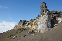 Azores rocky volcanic landscape in Faial island. Ponta dos Capel Stock Images