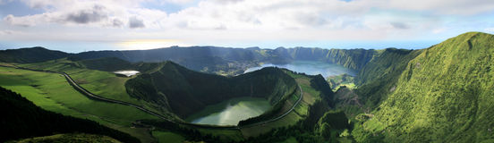Azores Sete Cidades Stock Photography