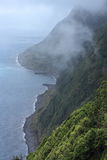 Azores steep coast Royalty Free Stock Photo