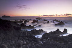 Azores: Sunset in Mosteiros Royalty Free Stock Image