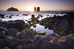 Azores: Sunset in Mosteiros Stock Photo