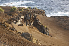 Azores volcanic coastline landscape in Faial island. Ponta dos C Royalty Free Stock Photography